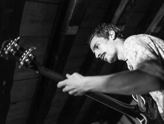 Virgile Rosselet playing bass